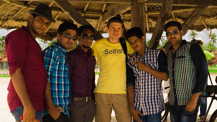 Фото с Индусами в Удупи